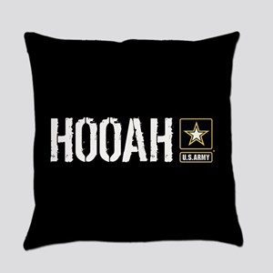 U.S. Army: Hooah (Black) Everyday Pillow