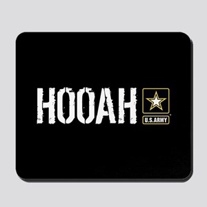 U.S. Army: Hooah (Black) Mousepad