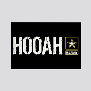 U.S. Army: Hooah (Black) Rectangle Magnet