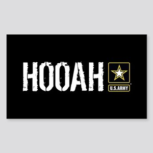 U.S. Army: Hooah (Black) Sticker (Rectangle)