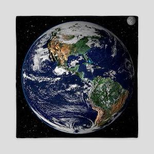 art Earth from space NASA Queen Duvet