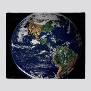 art Earth from space NASA Throw Blanket