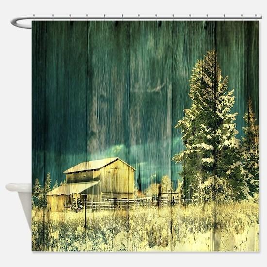 Unique Fields Shower Curtain