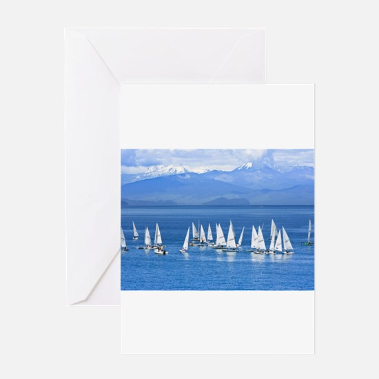 nautical sailboats Greeting Cards