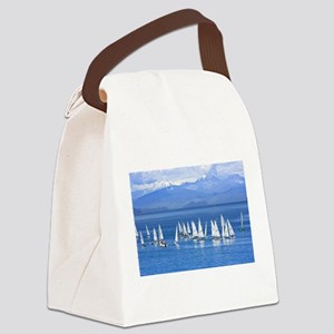 nautical sailboats Canvas Lunch Bag
