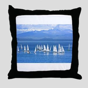 nautical sailboats Throw Pillow