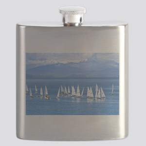 nautical sailboats Flask