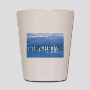 nautical sailboats Shot Glass