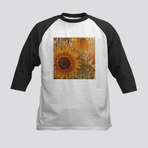 rustic western country sunflower Baseball Jersey