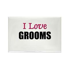 I Love GROOMS Rectangle Magnet (10 pack)
