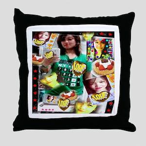 Tina and the Heart of Gold Throw Pillow