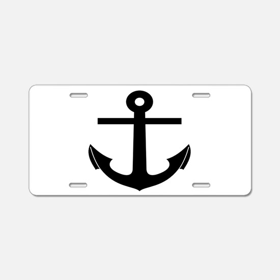 nautical anchor Aluminum License Plate