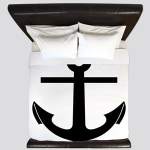 nautical anchor King Duvet