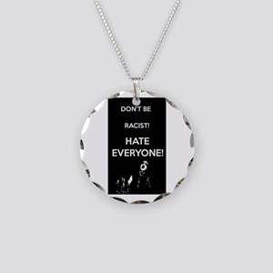 HATE EVERYONE Necklace Circle Charm
