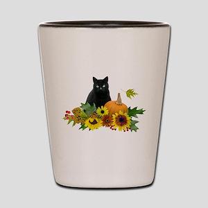 Fall Cat Shot Glass