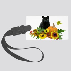 Fall Cat Large Luggage Tag