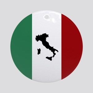 Italian Flag & Boot Ornament (Round)