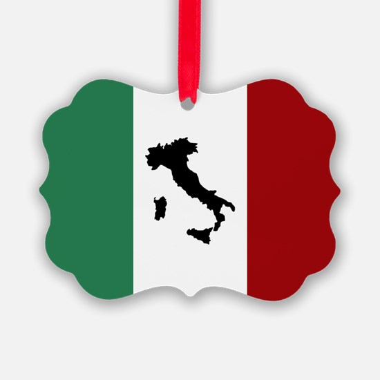 Italian Flag & Boot Ornament