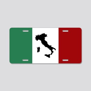 Italian Flag & Boot Aluminum License Plate