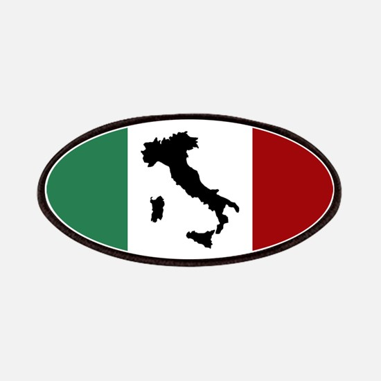Italian Flag & Boot Patch