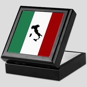 Italian Flag & Boot Keepsake Box