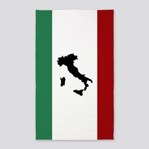 Italian Flag & Boot Area Rug