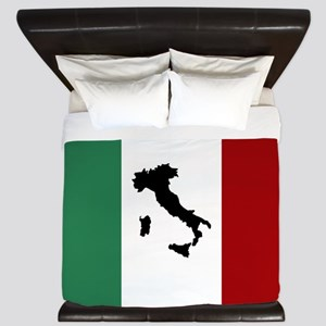 Italian Flag & Boot King Duvet