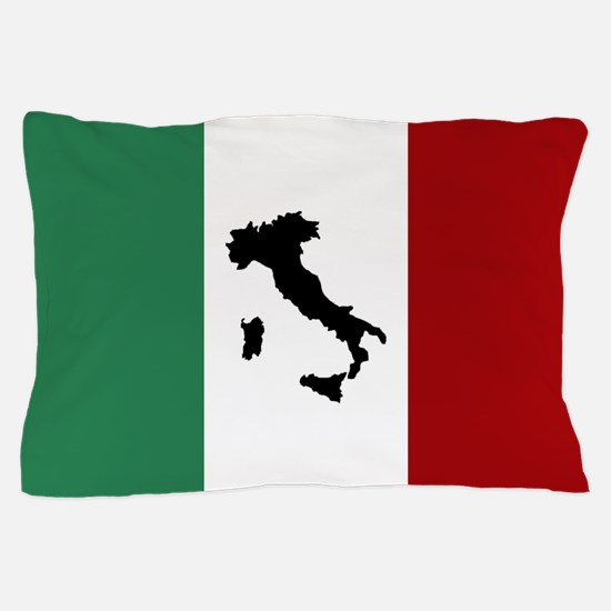 Italian Flag & Boot Pillow Case