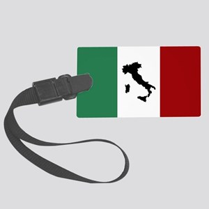 Italian Flag & Boot Luggage Tag
