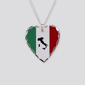 Italian Flag & Boot Necklace