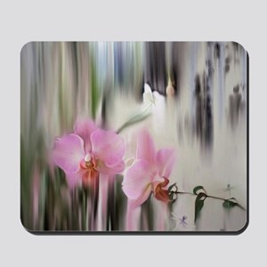 Orchids and Dragonflies Mousepad