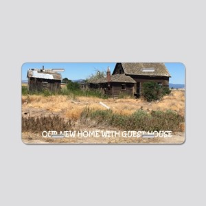 New Home with Guest House Aluminum License Plate