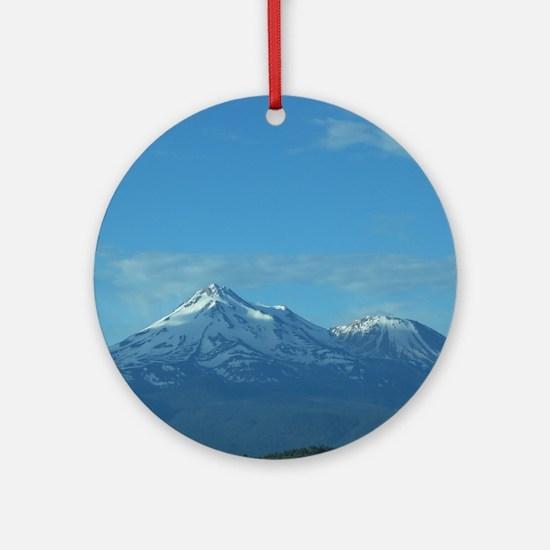 Mt. Shasta Round Ornament