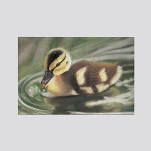 Duckling in Water Rectangle Magnet