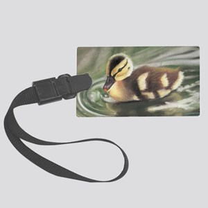 Duckling in Water Large Luggage Tag