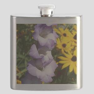 Purple Gladiolas Flask