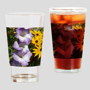 Purple Gladiolas Drinking Glass
