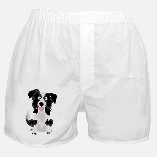 Funny Border Collie Art Boxer Shorts