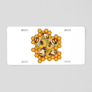 Honeybees Aluminum License Plate