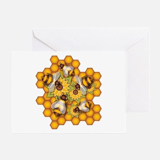 Honeybees Greeting Cards