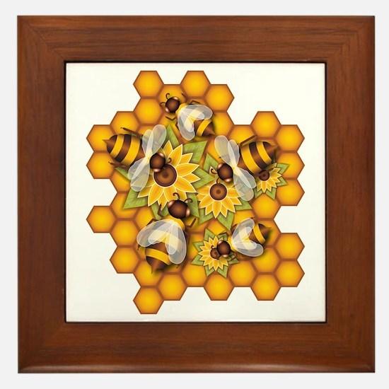 Honeybees Framed Tile