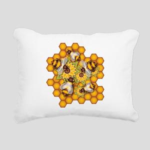 Honeybees Rectangular Canvas Pillow