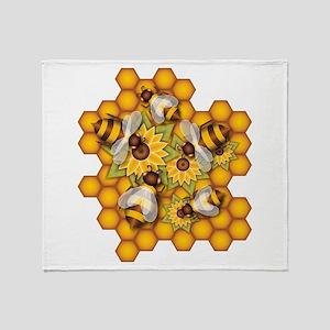 Honeybees Throw Blanket