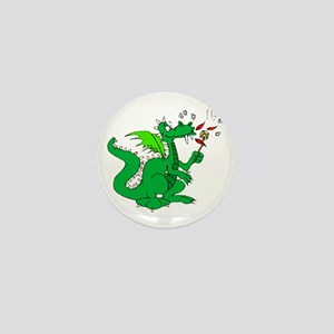 Roasting Marshmallows Dragon Mini Button