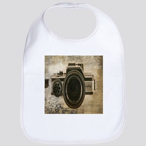 grunge vintage camera Bib