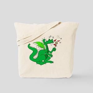 Roasting Marshmallows Dragon Tote Bag