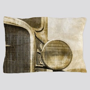 rusty vintage farm truck Pillow Case