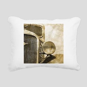 rusty vintage farm truck Rectangular Canvas Pillow