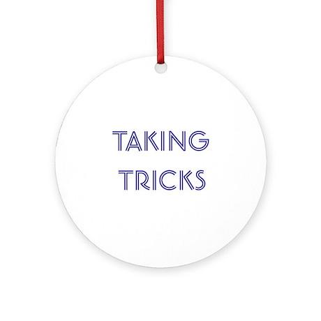 Taking Tricks Ornament (Round)