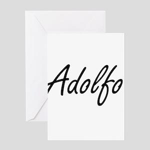 Adolfo Artistic Name Design Greeting Cards